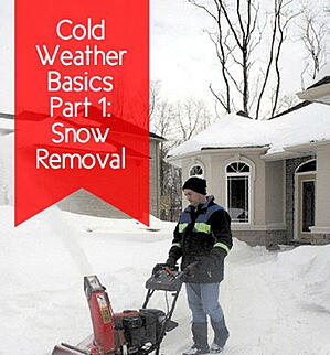 """cover of """"Cold Weather Basics Part 1: Snow Removal"""" guide"""