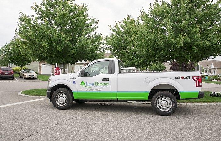 lawn elements work truck