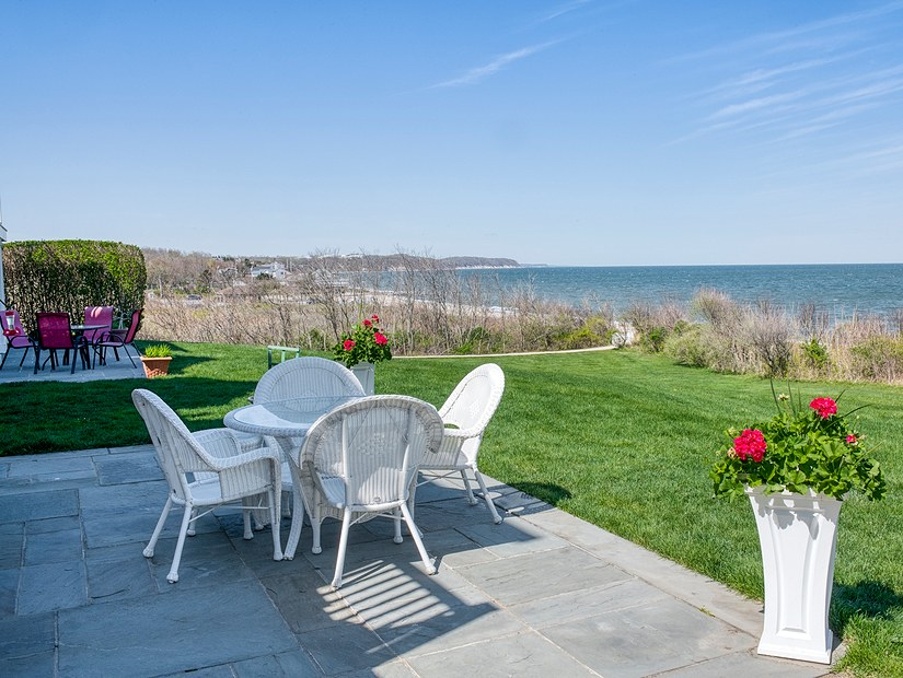 maidstone landing patio overlooking ocean
