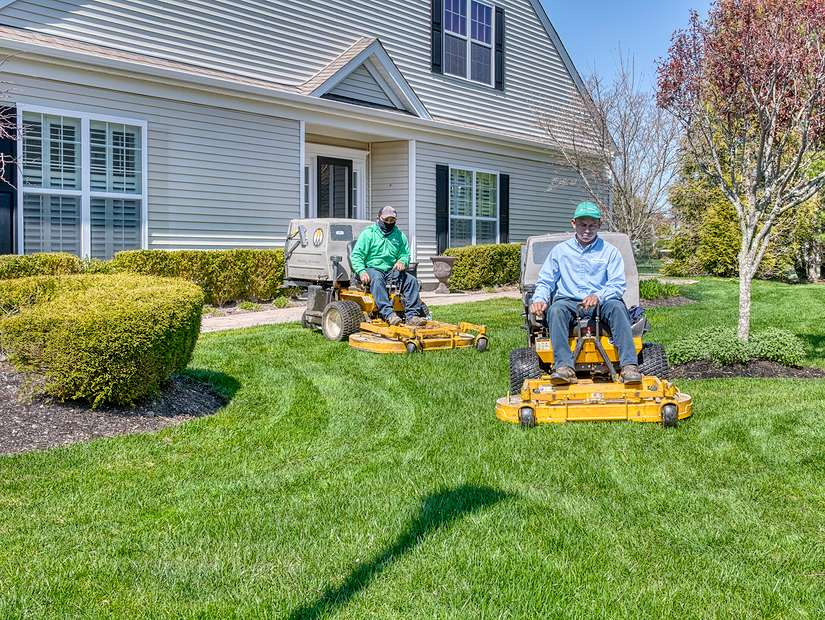 lawn elements team on riding lawn mowers