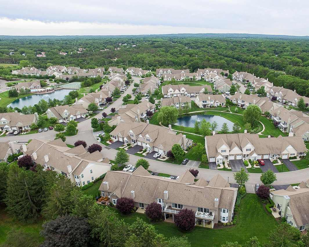 plymouth estates homes from the air