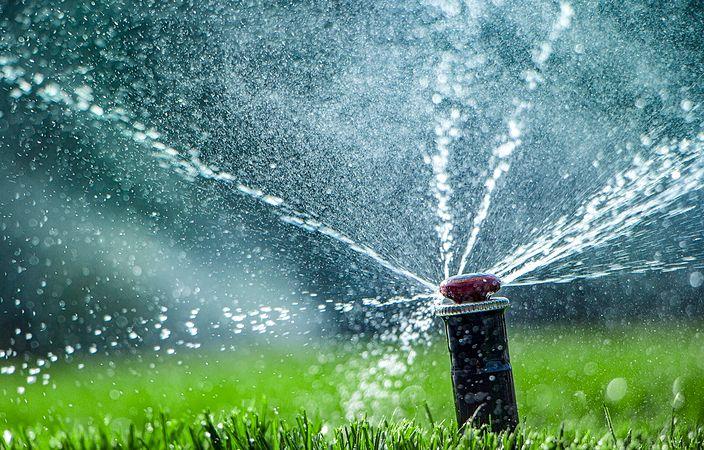 close up of sprinkler head