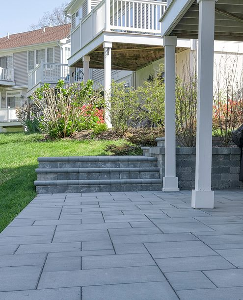 paved patio landscape